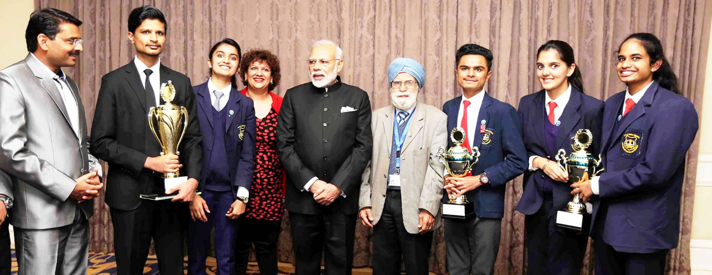 Our students with the Prime Minister of India Mr Narendra Modi